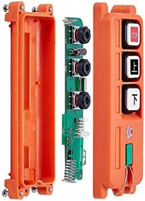 Calvas F21-2S industrial universal radio wireless remote control for overhead crane Color: 12V AC DC VHF
