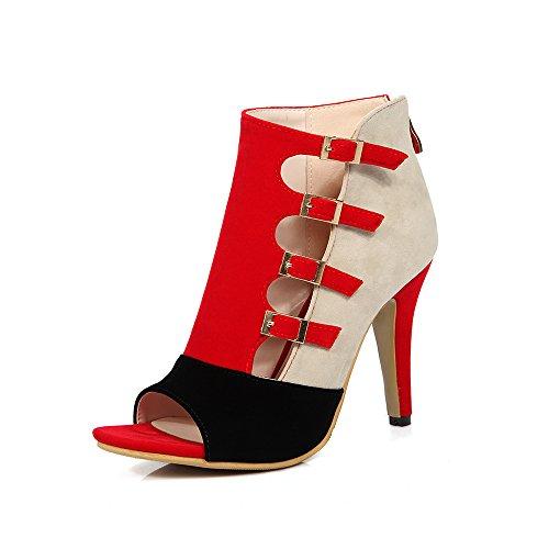 AOKAIEYU Women's Peep Toe Sexy High Heels Ankle Pumps Cutout Ankle Booties