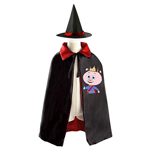 Super Why Pig Costume (DIY Prince Pig super why Costumes Party Dress Up Cape Reversible with Wizard Witch Hat)