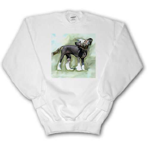 Hairless Chinese Crested - 3dRose Dogs Chinese Crested Hairless - Chinese Crested - Sweatshirts - Adult SweatShirt Large (ss_4254_3)