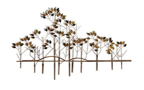 Tree of Life Metal Wall Sculpture - 39 Inches Wide x 24 Inches High Metal Wall Art (Tree Hanging Metal Wall)