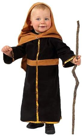 Atosa-12776 Atosa-12776-Disfraz De San José niño bebé-Talla Navidad, Color marrón, 6 a 12 meses (12776