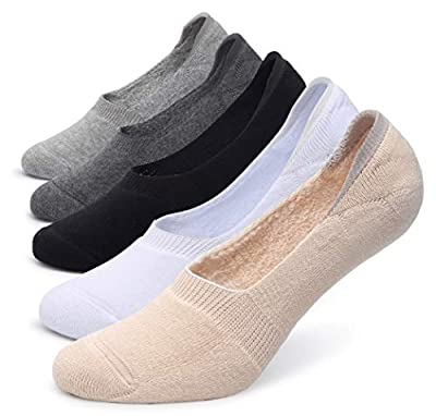 Pareberry Women's Thick Cushion Cotton Athletics Casual Low Cut Flat Non-Slip Boat Liner No Show Socks-5/10 Pack