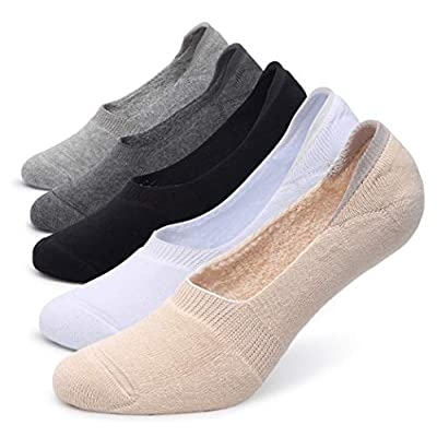 Pareberry Women's Thick Cushion Cotton Athletics Casual Low Cut Flat Non-Slip Boat Liner No Show Socks-5/10 Pack at Women's Clothing store