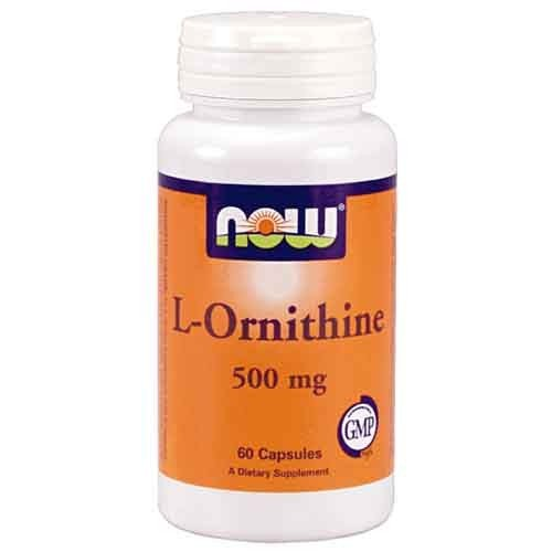 L-Ornithine 500 mg, 60 gélules, NOW Foods