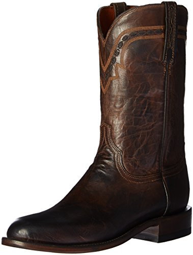 Chocolate Mad Dog - Lucchese Bootmaker Men's Jasper-ch Mad Dog Goat Riding Boot, Chocolate, 9 D US