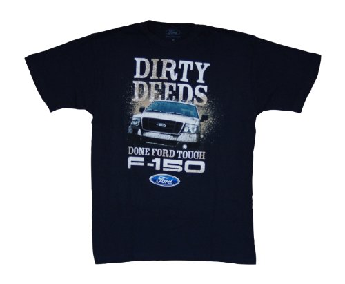 Mad Engine Men's Ford Motors F-150 Dirty Deeds T-shirt M Navy (Ford Flathead V8 Crate Engine For Sale)