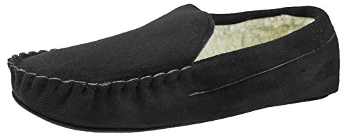 Strong on Souls Black Mens Moccasins Slippers Slip rX4Xxwq