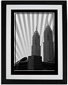 Al Kazim Towers Metro - Black And White No Text F01-nm (a2) - Framed