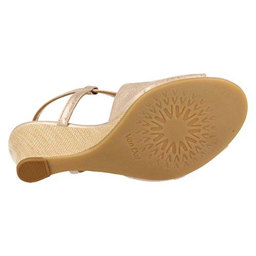 Sandalias Metalic Van Descubierta mujer de DalAllora Bamboo Punta 7A5S8w