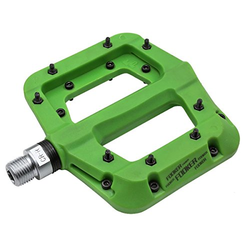 (FOOKER MTB Bike Pedal Nylon 3 Bearing Composite 9/31 Mountain Bike Pedals High-Strength Non-Slip Bicycle Pedals Surface for Road BMX MTB Fixie Bikesflat Bike)