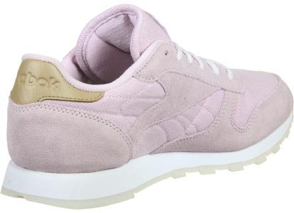 Reebok Classic Leather Damen Sneaker Grau Purple/White