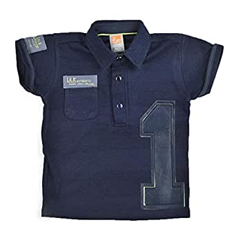 Little Kangaroos Boys Knit T-Shirt, Navy