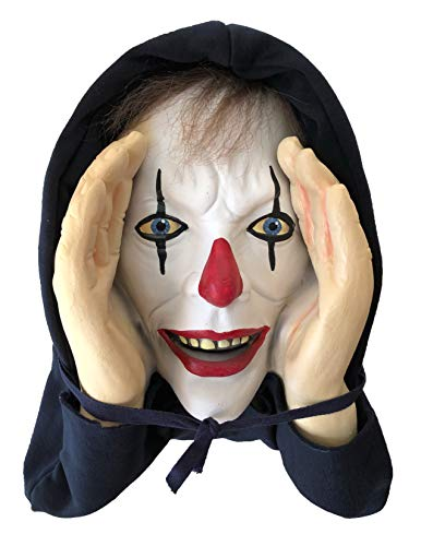 Scary Peeper - Clown Halloween Decoration - Giggle - the True-to-Life Window Prop]()