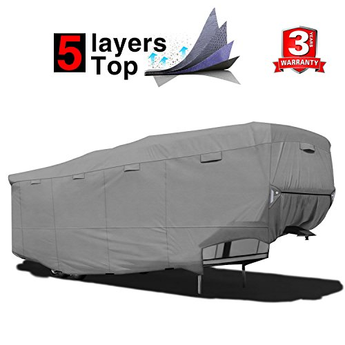 - RVMasking Heavy Duty 5 Layers Top 5th Wheel Cover, Fits 37'1