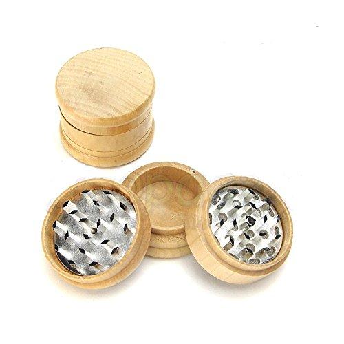 Unishow-Wood-Tobacco-Spice-Herb-Revolver-Grinder-Fun-Novelty-Mill-Tool-Pocket-Grinder-Wood