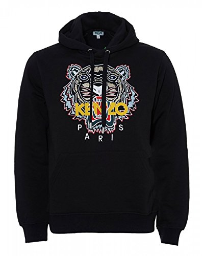 Kenzo Mens Chinese Tiger Hoodie, Black Logo Sweat (S) from Kenzo
