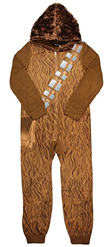 Boy's Star Wars Chewbacca Hooded Sleeper Pajama (X-Small 4/5) ()