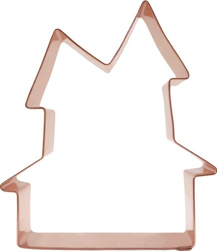 Halloween Haunted House Copper Cookie Cutter
