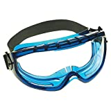 KLEENGUARD V80 Monogoggle XTR OTG Goggle Protection (18624), Over Glasses, Anti-Fog, Clear Lens, Blue Frame, 6 Pairs / Case