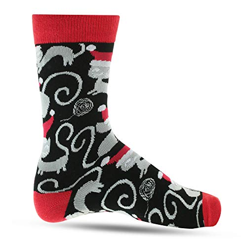 Christmas Socks For Women: Ultra Soft Holiday Crew Sock For Ladies & Girls: Comfortable & Colorful Festive Novelty Stockings Cats Cat