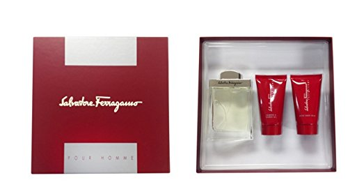 Gift Set After Shave Gel (Salvatore Ferragamo for Men - 3 Pc Gift Set 3.4oz EDT Spray, 2.5oz After Shave Balm, 2.5oz Shampoo And Shower Gel.)