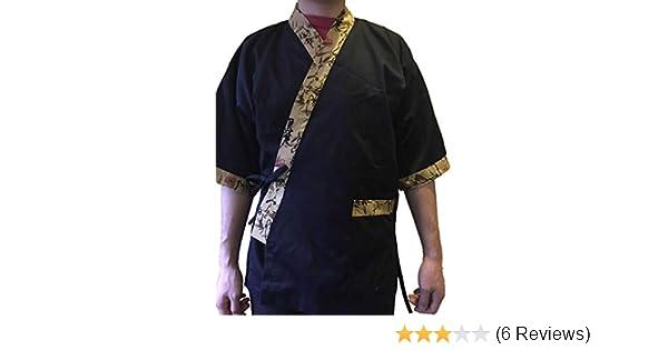 Tonrier Osaka Tokyo Chef Coat Jacket Kimono Sushi Restaurant Bar Japanese Clothes Uniform 5 Size Unisex