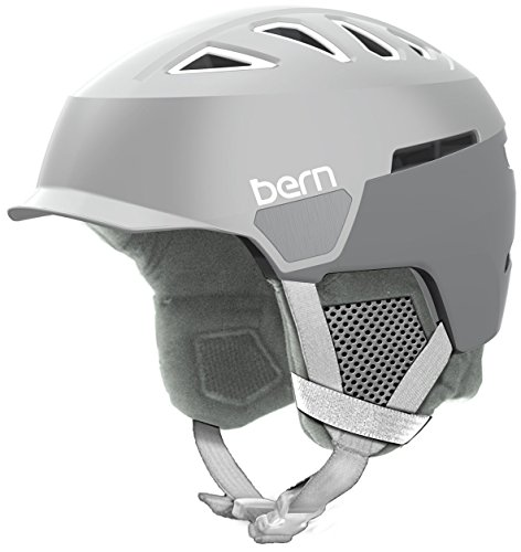 Bern Women's Heist Brim Helmet (Satin Delphin Grey with Grey Liner, Medium) -