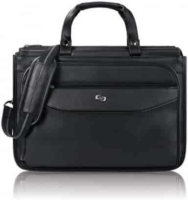 Solo Harrison 16 Inch Triple Compartment Laptop Briefcase, Black