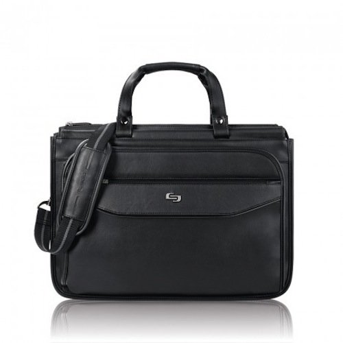 Solo Harrison 16 Inch Triple Compartment Laptop Briefcase, Black by SOLO