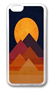 Apple Iphone 6 Case,WENJORS Awesome Full moon and pyramid Soft Case Protective Shell Cell Phone Cover For Apple Iphone 6 (4.7 Inch) - TPU Transparent