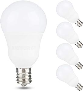 Yueximei E17 Globe Light Bulb, 6W 60W Equivalent, 3000K Soft White, 600LM,Slender G14 LED Bulbs for Ceiling Fan, Chandelier Lighting, Not Dimmable, Pack of 4