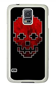 R Skull PC White Hard Case Cover Skin For Samsung Galaxy S5 I9600