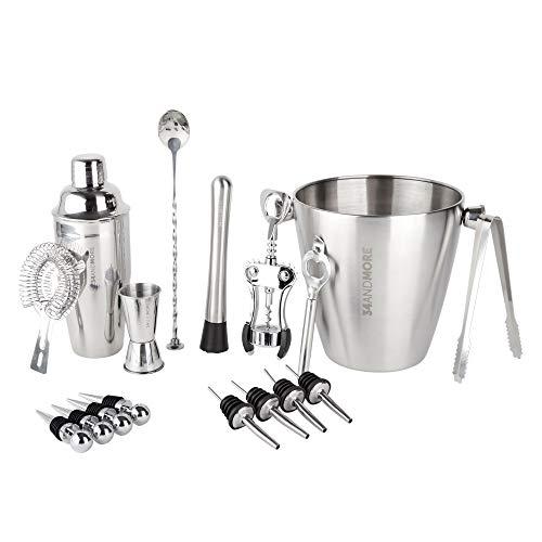 Bar Set 17-Pcs Jumbo Bartender Kit – Premium Cocktail Set Mixology Kit for Bar and Home - Best All-In-One Cocktail Shaker Set - Bartender Mixology Barware Set for Men and Women - Bar Tools Martini Kit