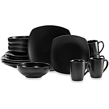 Amazon.com | Gibson Paradiso Dinnerware Set, 16-Piece, Linen ...