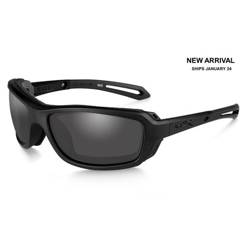 Wiley X CCWAV01 Wave Sunglasses Grey Lens Matt Frame, Black by Wiley X