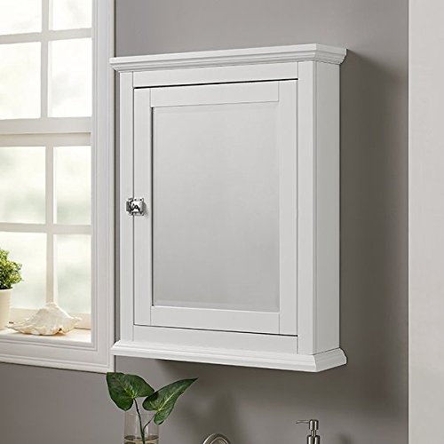 23.62'' x 30'' Surface Mounted Medicine Cabinet Made of MDF Two Adjustable Shelves with Bright White Finish by AVA Furniture