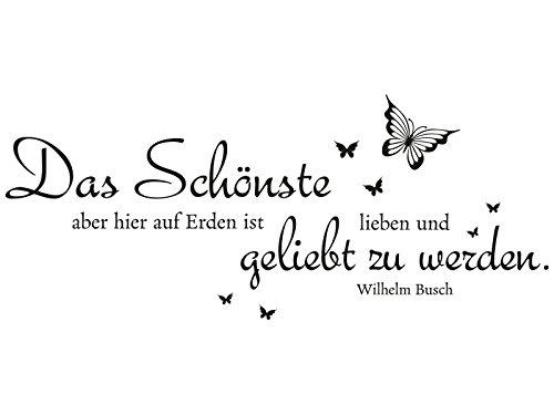 Klebeheld Wandtattoo Das Schönste Hier Auf Erden Ist Lieben Und Geliebt Zu Werden Wilhelm Busch Farbe Dunkelgraugröße 100x42cm