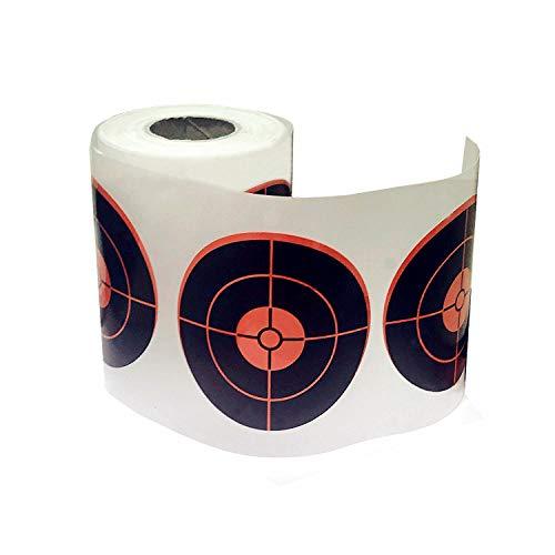 (Splatter Targets | Red Self Adhesive Shooting Targets Stickers Target Pasters - Gun - Rifle - Pistol - AirSoft - BB Gun - Pellet Gun - Air Rifle (Qty 250pcs-3 Inch) 100% Refund Without Return!)