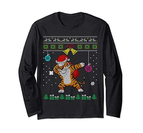 Ugly Sweater Dabbing Tiger Christmas T Shirt Santa Funny Gif]()