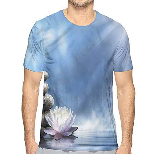 Jinguizi Funny t Shirt Spa,Zen Spirituality Serenity Theme Men's and Women's t Shirt L