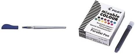 Pilot - Pack bolígrafo Parallel (punta 6,0 mm) + 12 cartuchos de ...