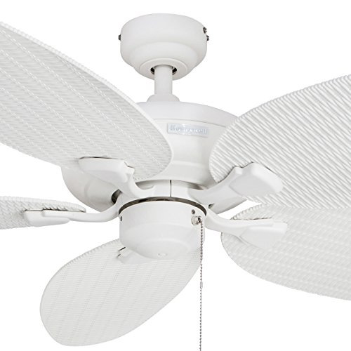 Honeywell Duvall 52-Inch Tropical Ceiling Fan, Five Wet Rated Wicker Blades, Indoor/Outdoor, White by Honeywell Ceiling Fans (Image #2)