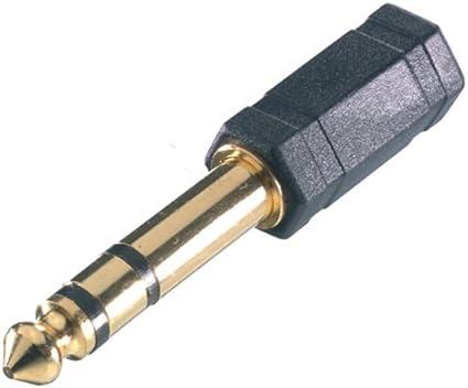 Vivanco 41063 - Adaptador audio Jack (3.5 mm/6.3 mm), negro
