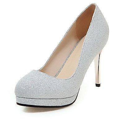 mujeres Primavera Zapatos Verano Invierno de de del Otoño Silver cuña Club vestido boda de banquete noche y de Talones tacón de las de de personalizados materiales tacón aguja wqIxXEA