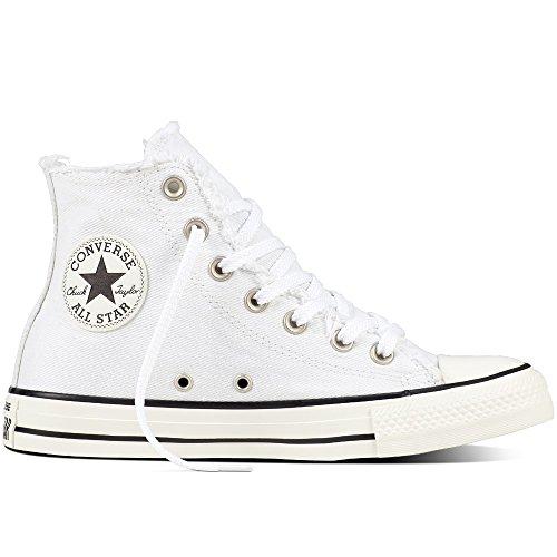 Baskets Bianco Converse Unisexe Chaussures Hi Ctas Haute 161016c qzwOB