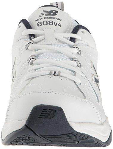 New Balance Men's MX608v4 Training Shoe, White/Navy, 10.5 4E US by New Balance (Image #8)