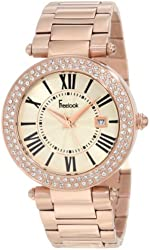 Freelook Women's HA1538RGM-9 All Rose Gold Shiny Dial Swarovski Bezel Watch