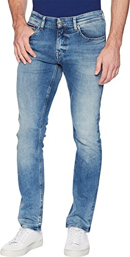 Tommy Jeans Men's Scanton Slim Fit Jeans Wilson Light Blue Stretch 36 32