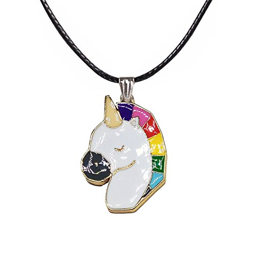 Rainbow Unicorn Necklace for Little Girls Kids Pendant Jewelry Birthday Gifts Party Favors